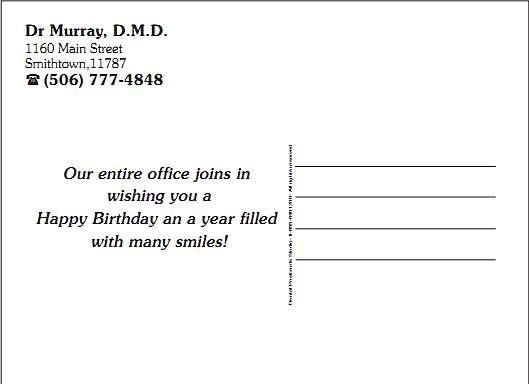 Address Side Layout Examples DentalPostcardsStudiocom - Custom postcard template